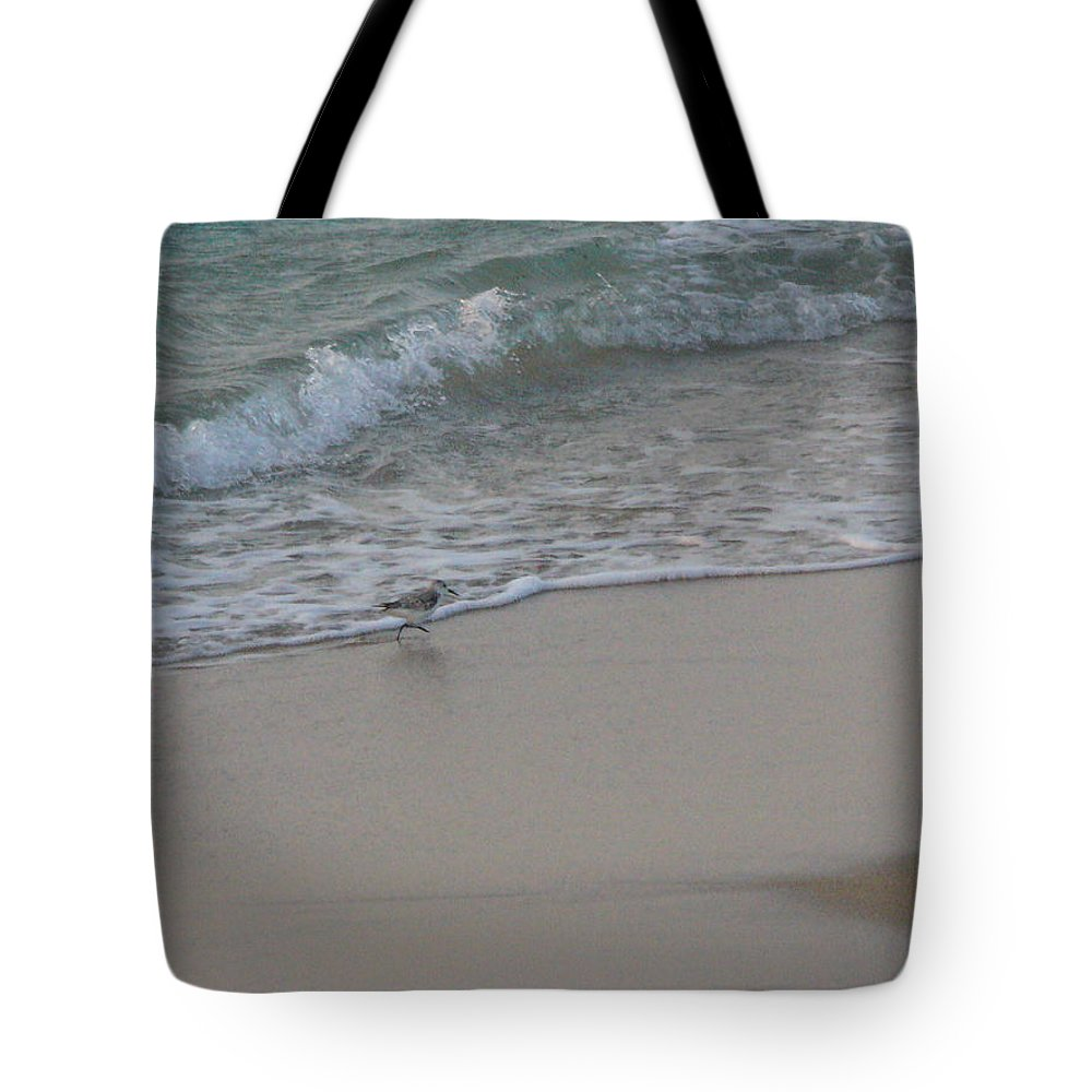 Surf Tote Bag featuring the photograph Breakfast At The Shore by Peggy King
