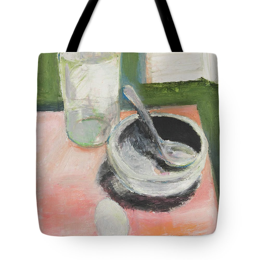 Still Life Tote Bag featuring the painting Breakfast by Craig Newland