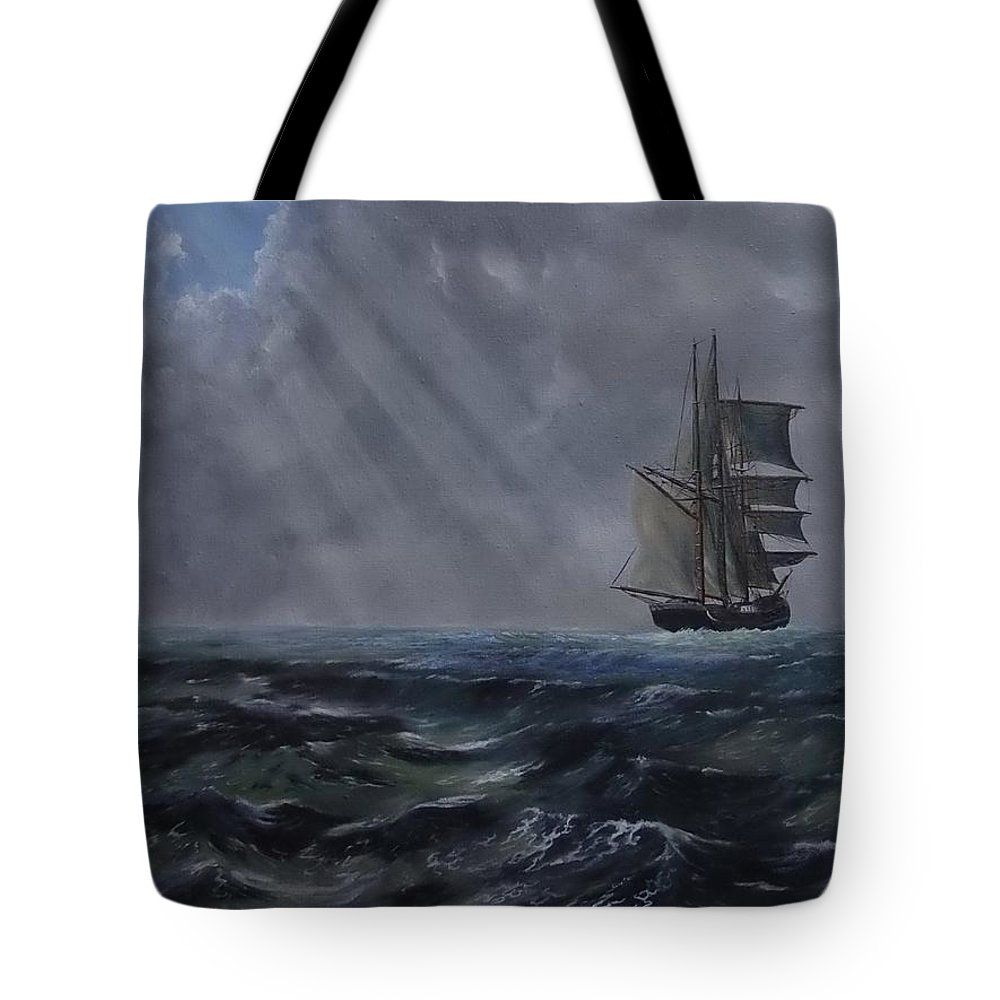 Ship Tote Bag featuring the painting Breakthrough by Patricia Lang