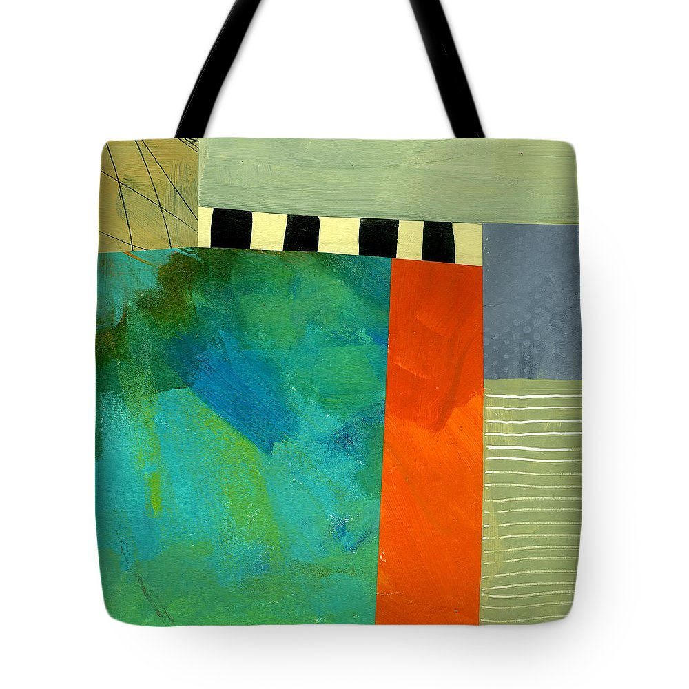 Abstract Art Tote Bag featuring the painting Breakwater by Jane Davies