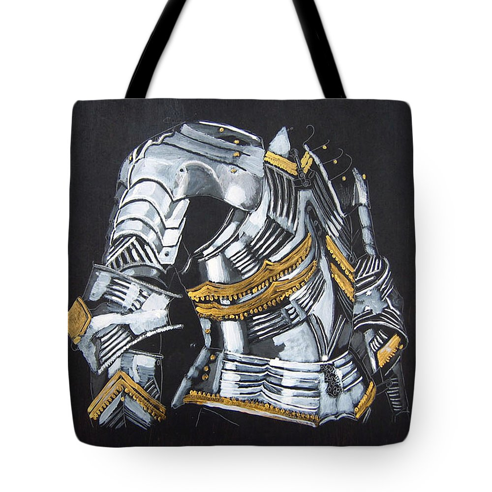 Breast Plate Tote Bag featuring the painting Breast Plate by Richard Le Page
