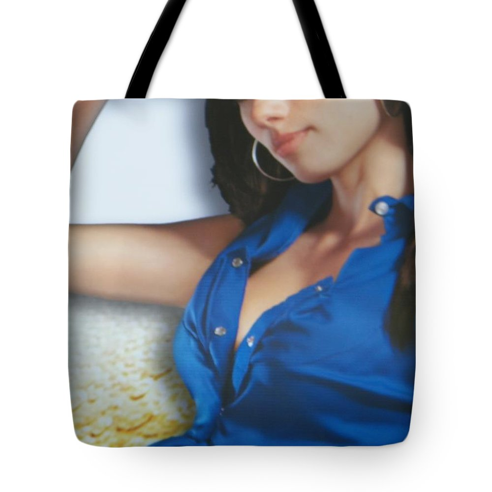 Commentary Tote Bag featuring the photograph Breasts--america The Addicted Series by Lenore Senior