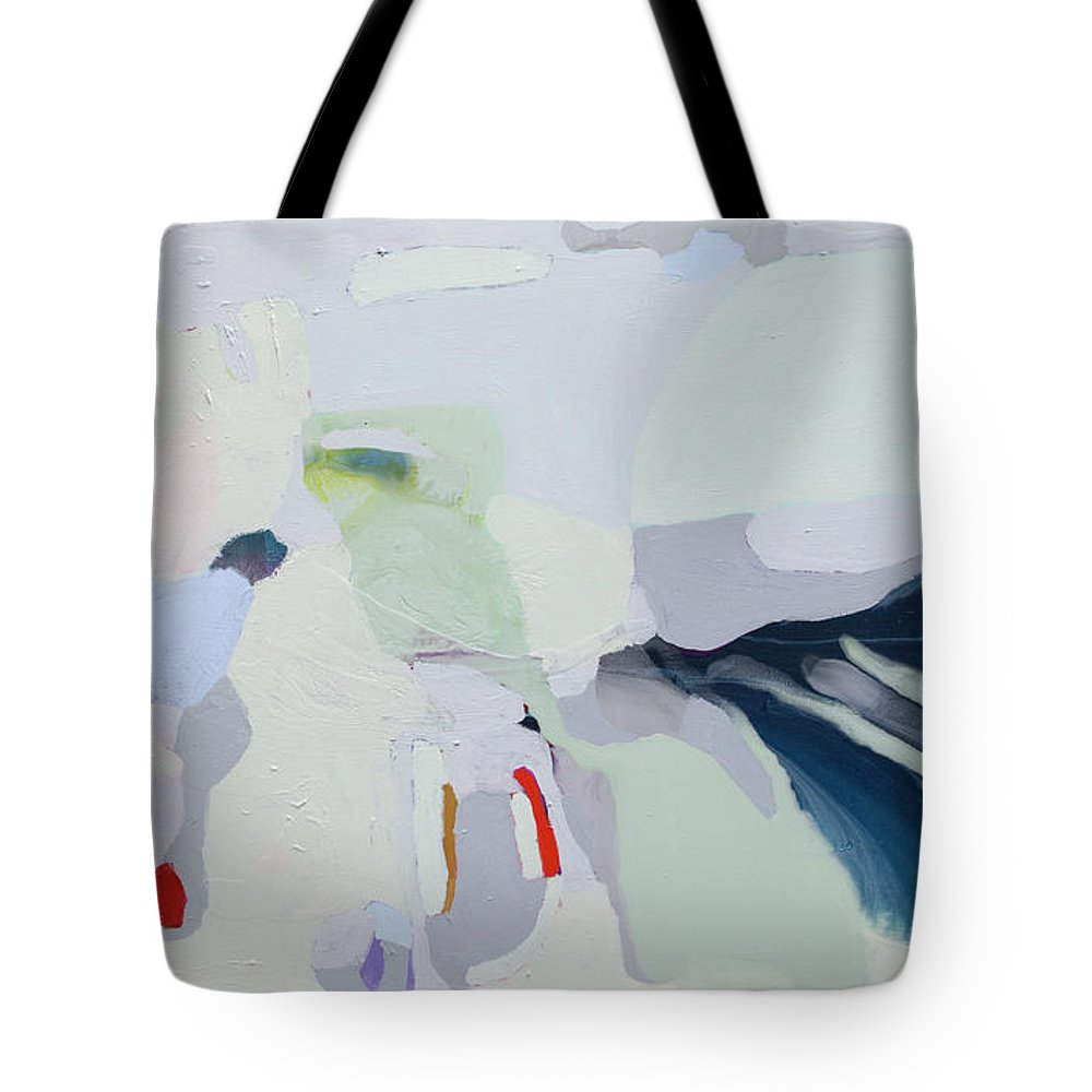 Abstract Tote Bag featuring the painting Breathe by Claire Desjardins