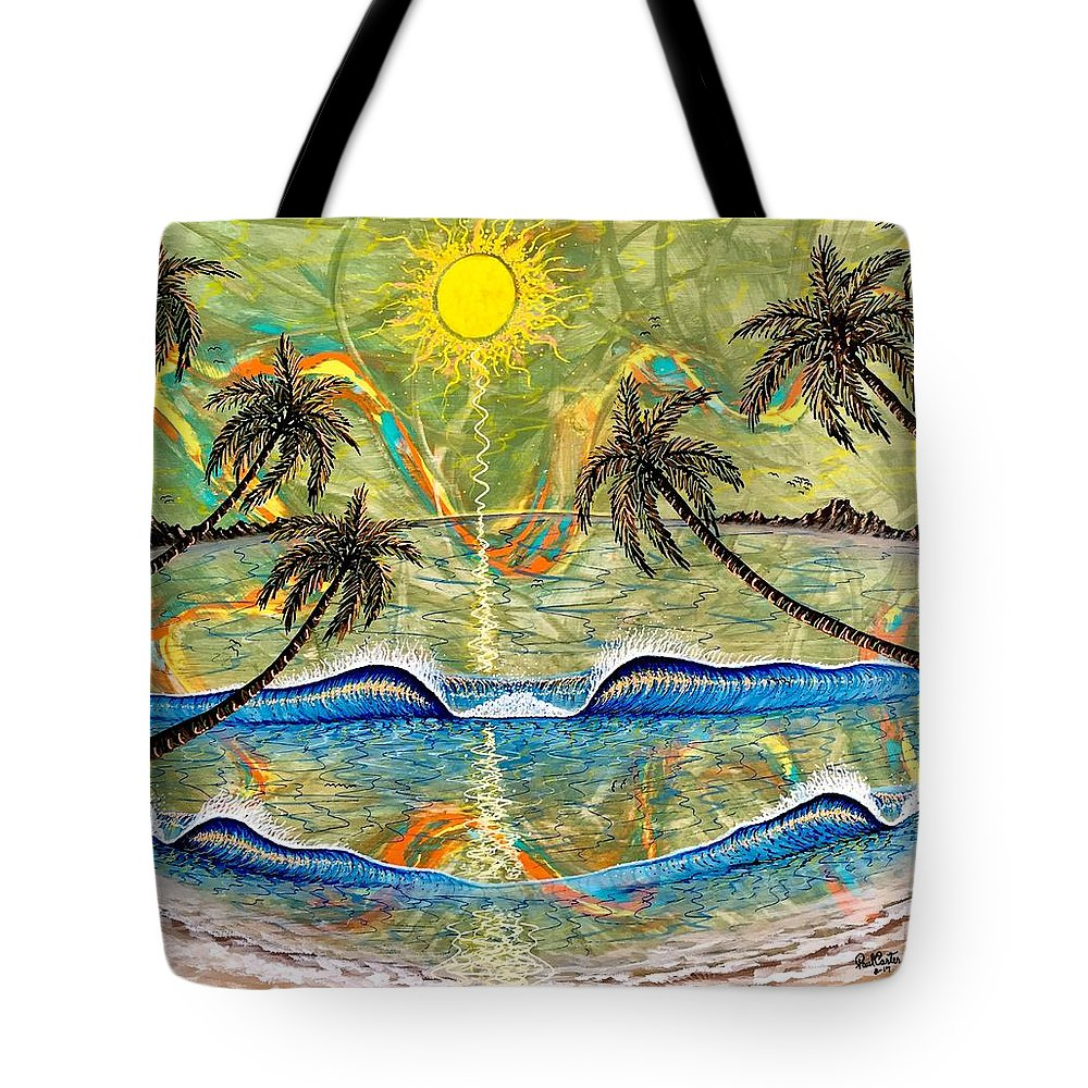 Breathe Tote Bag featuring the painting Breathe In Clarity by Paul Carter