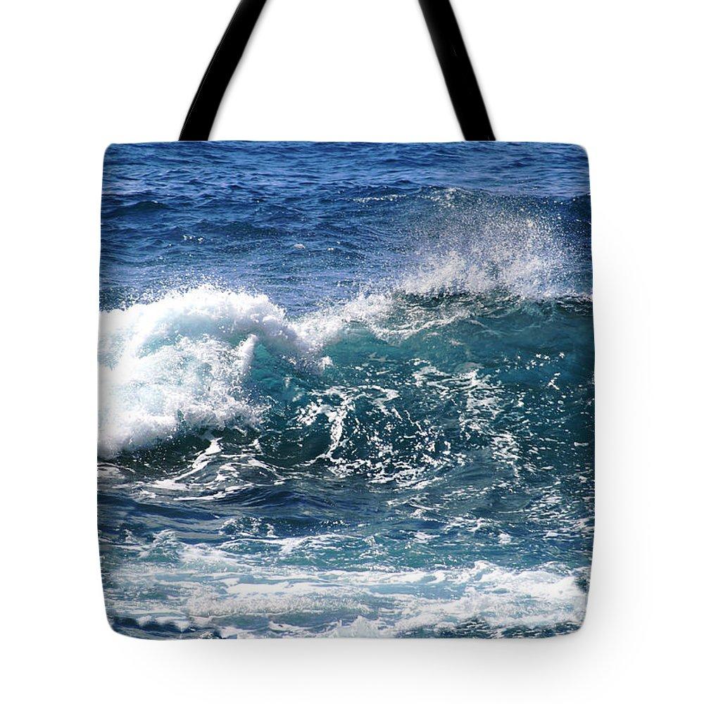 Aloha Tote Bag featuring the photograph Breathe Like Water Kashmir Blue Sapphire by Sharon Mau