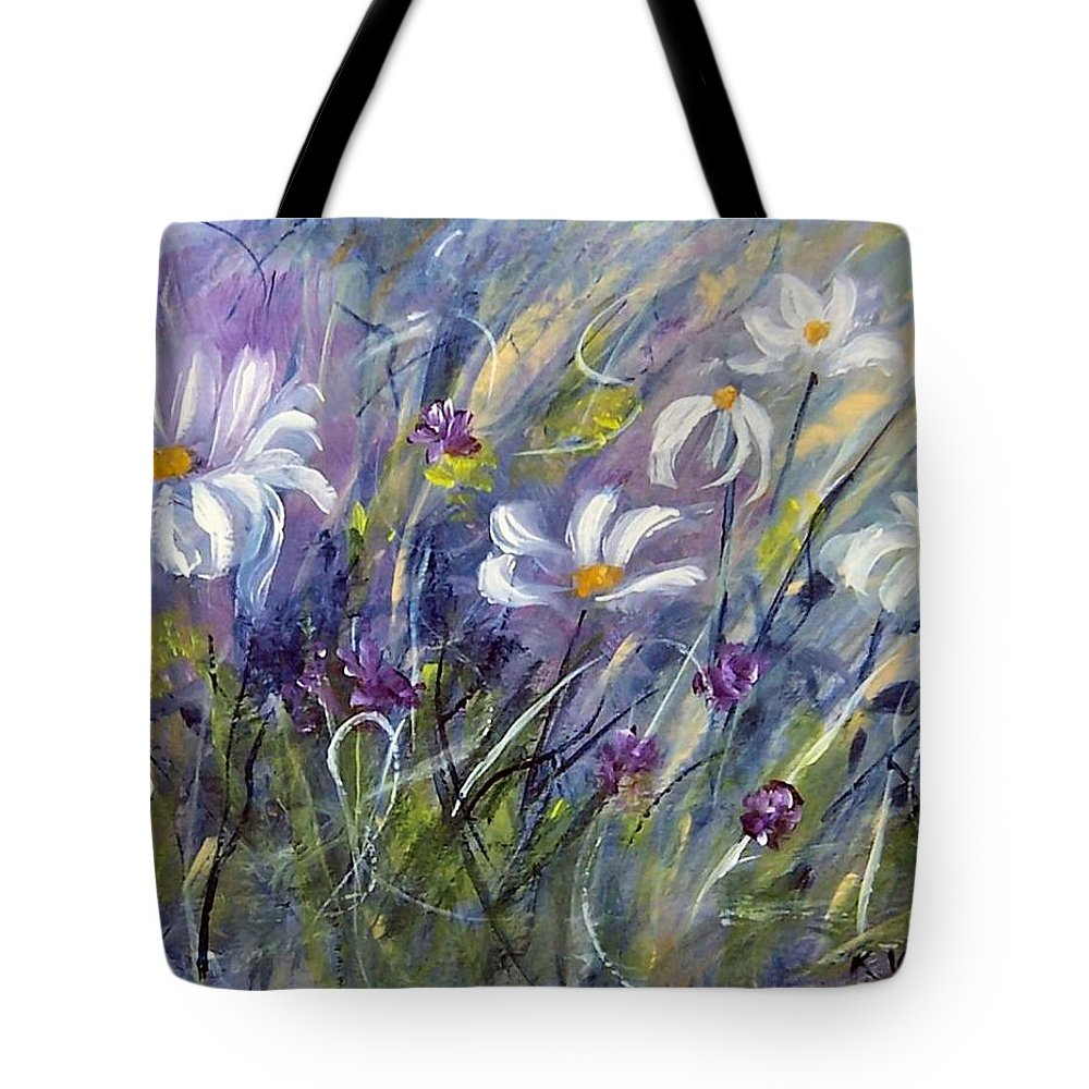 Painting Tote Bag featuring the painting Breezing Along  by Karen Day-Vath