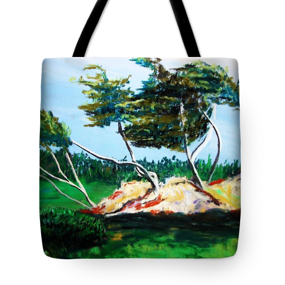 California Tote Bag featuring the painting Breezy by Melinda Etzold