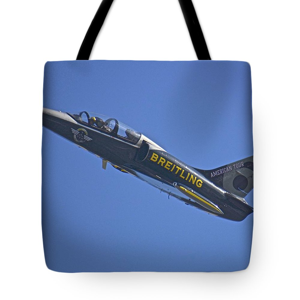 Jet Tote Bag featuring the photograph Breitling 6 by Carol Bradley