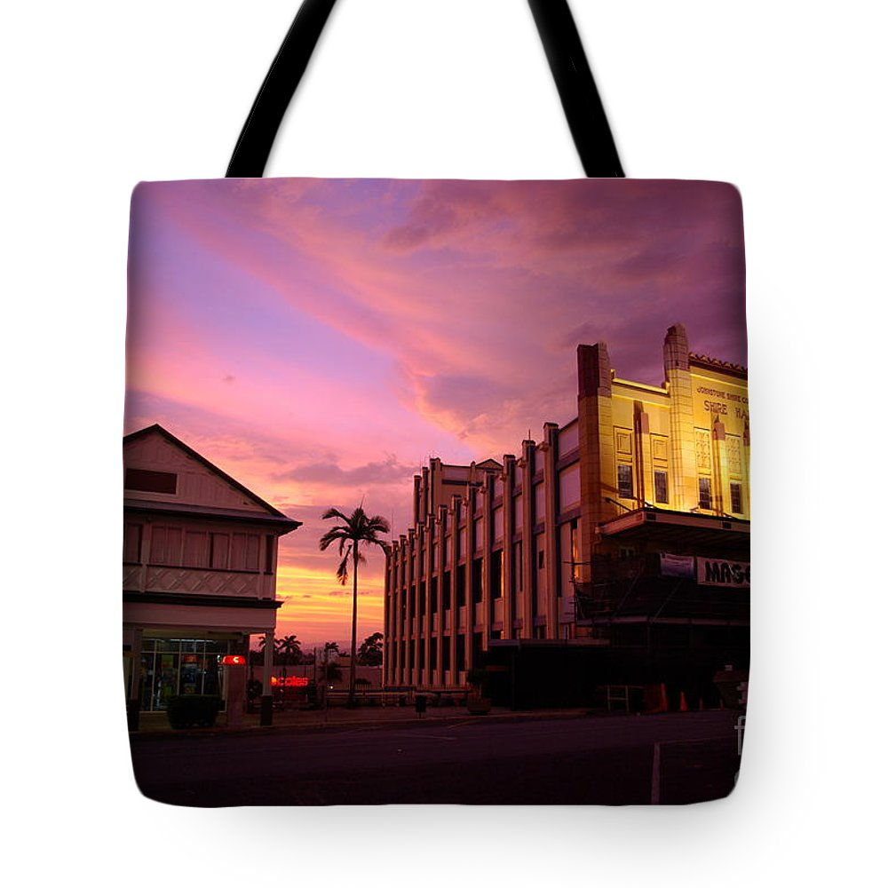 Evening Tote Bag featuring the photograph Brewing Storm by Kerryn Madsen- Pietsch