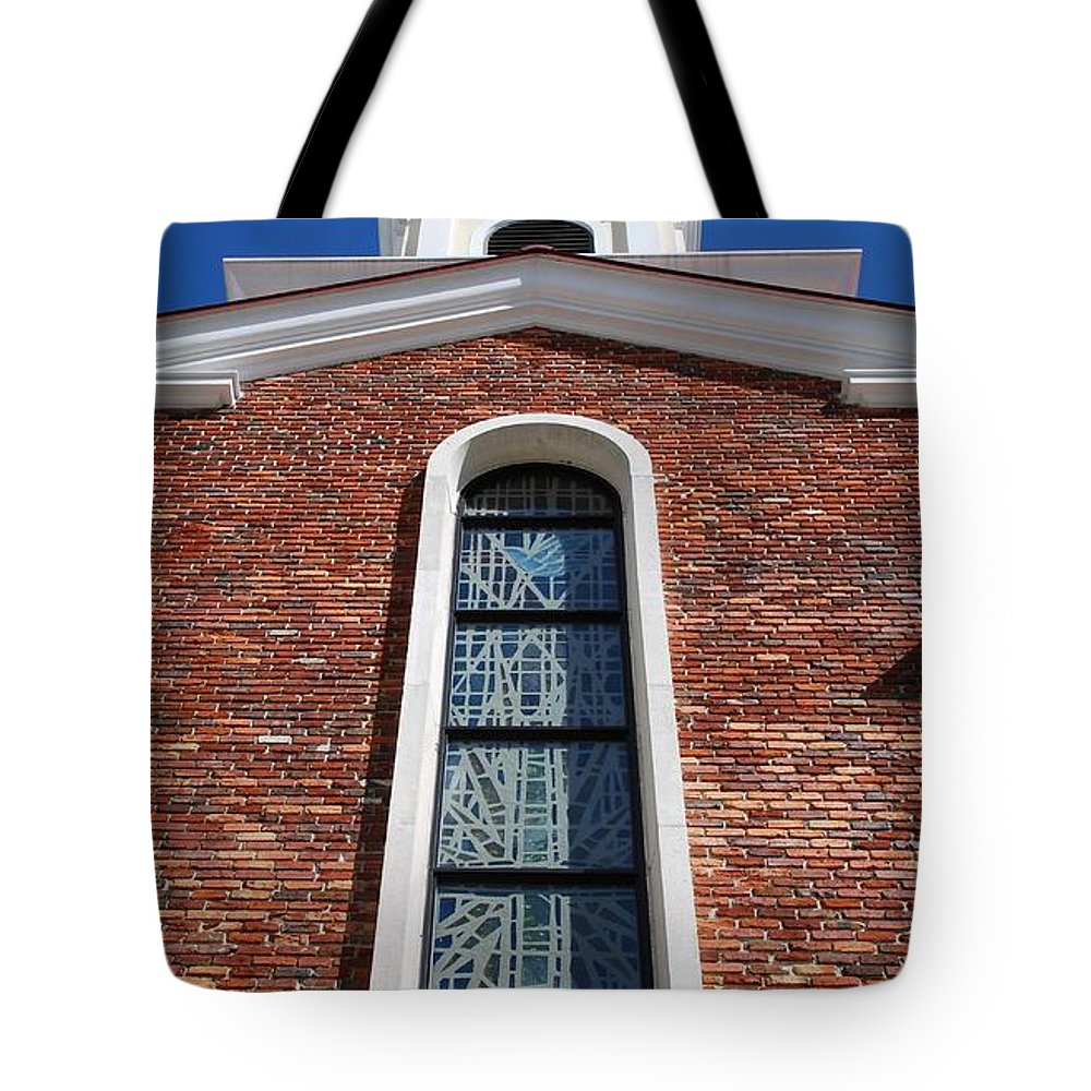 Architecture Tote Bag featuring the photograph Brick Church by Rob Hans