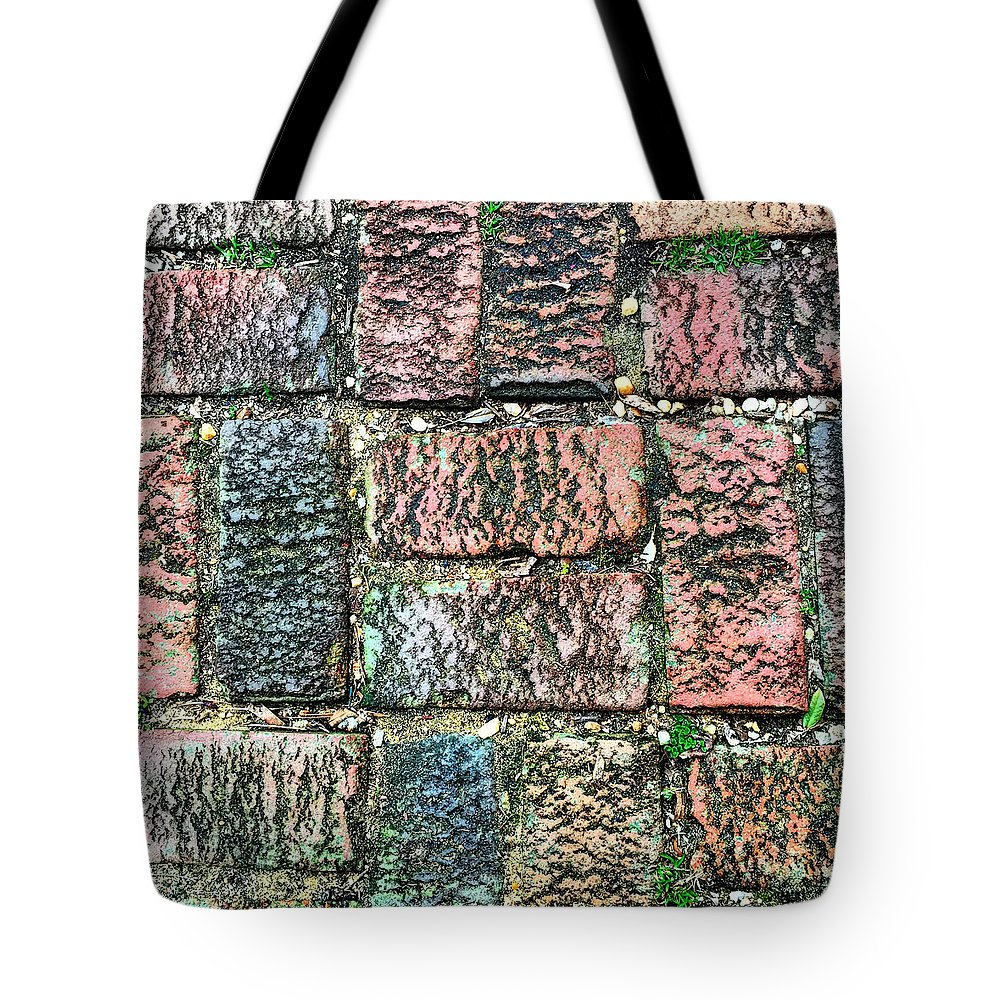 Brink Tote Bag featuring the photograph Brickwork#1 by Micheal Driscoll