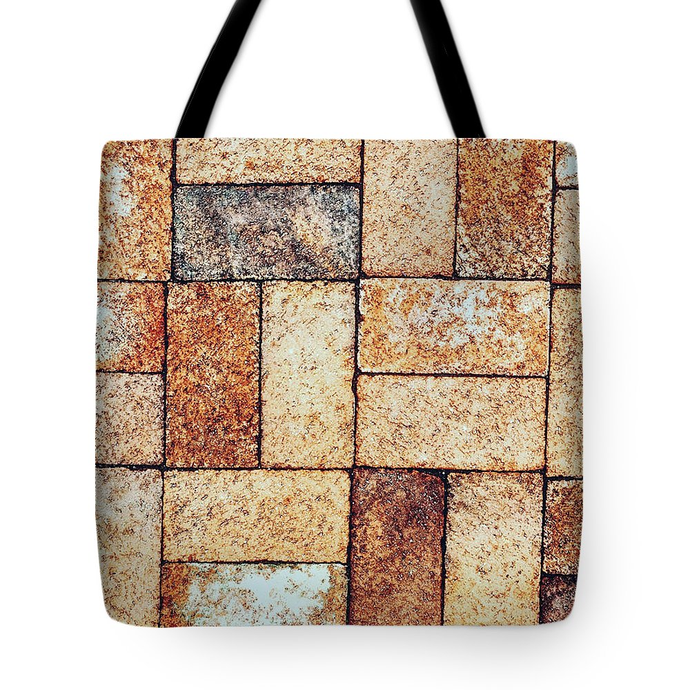 Brink Tote Bag featuring the photograph Brickwork#2 by Micheal Driscoll