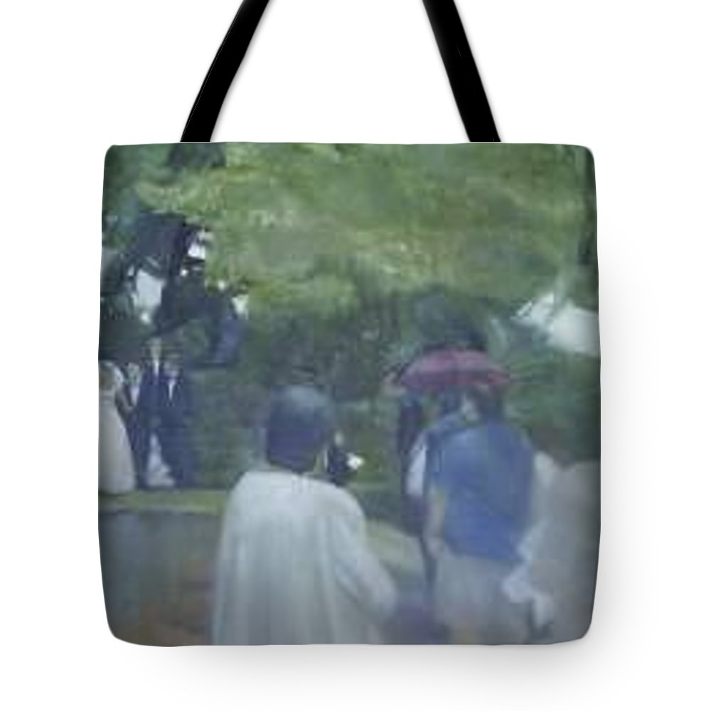 Wedding Tote Bag featuring the painting Bridal Showers by Sheila Mashaw