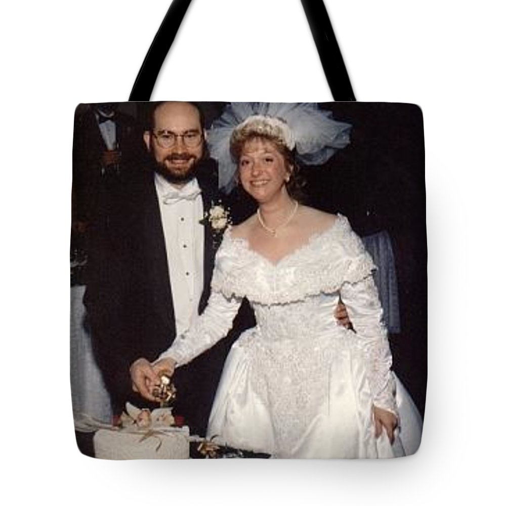 Wedding Tote Bag featuring the photograph Bride And Groom by John Graziani