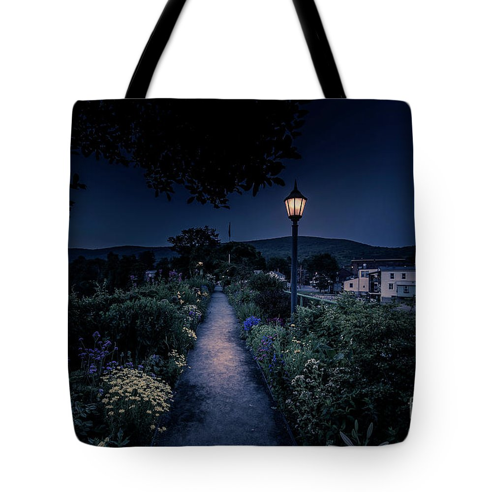 2018 Tote Bag featuring the photograph Bridge Of Flowers by Bruce Coulter