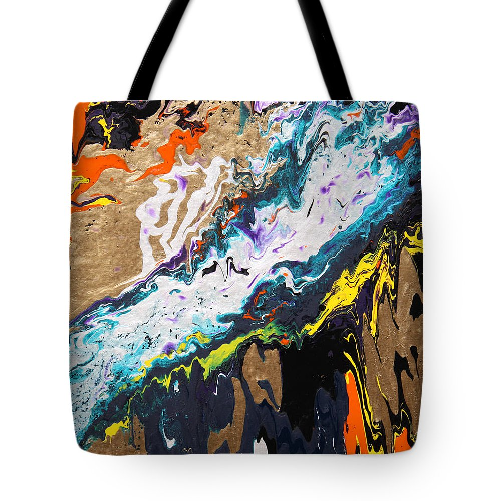 Fusionart Tote Bag featuring the painting Bridge by Ralph White