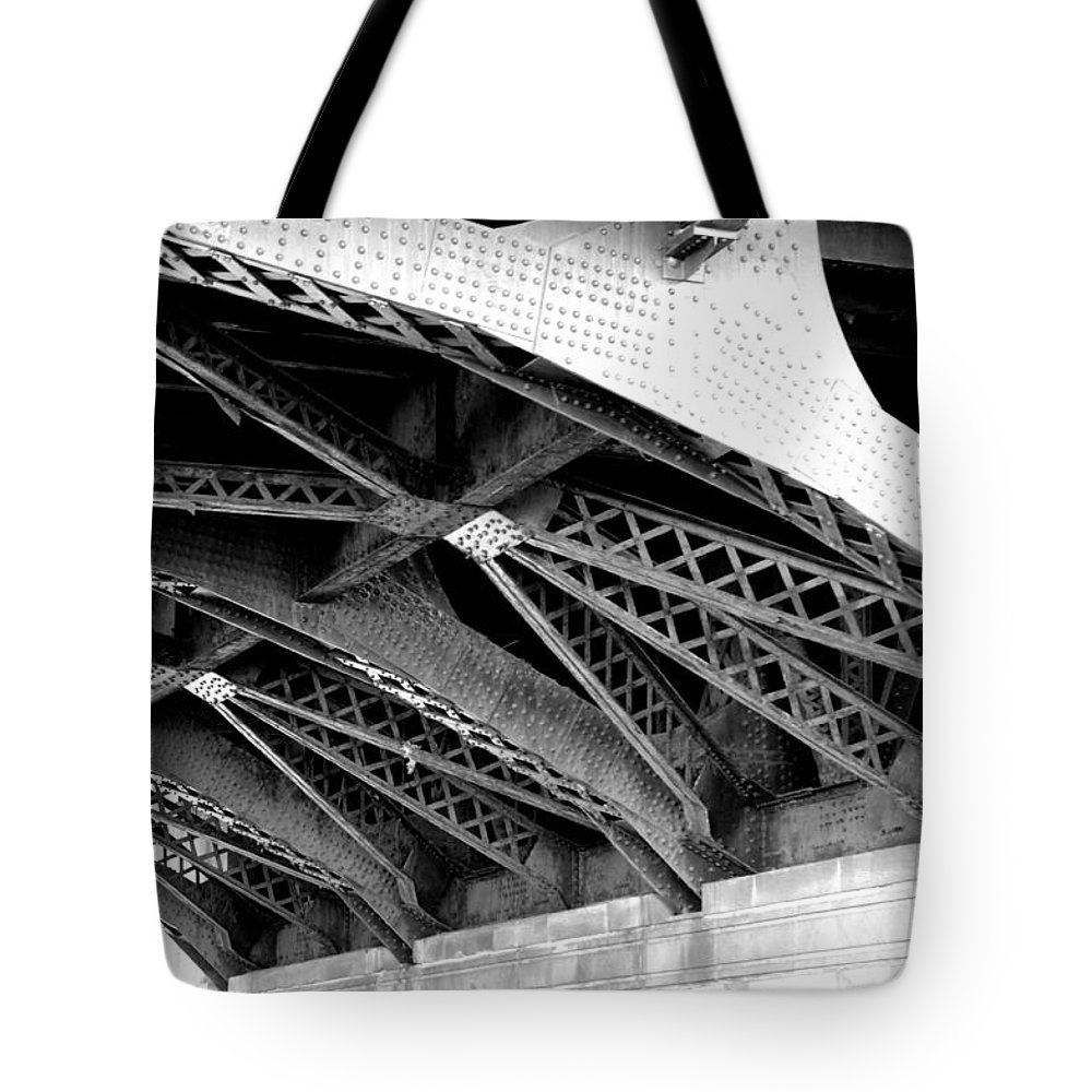 Chicago Tote Bag featuring the photograph Bridge by Art Spectrum