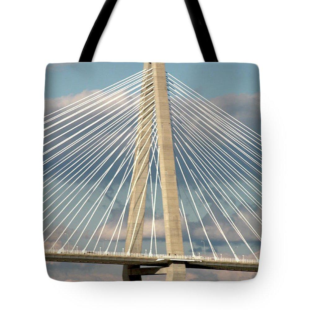 Tote Bag featuring the photograph Bridge by Teresa Doran