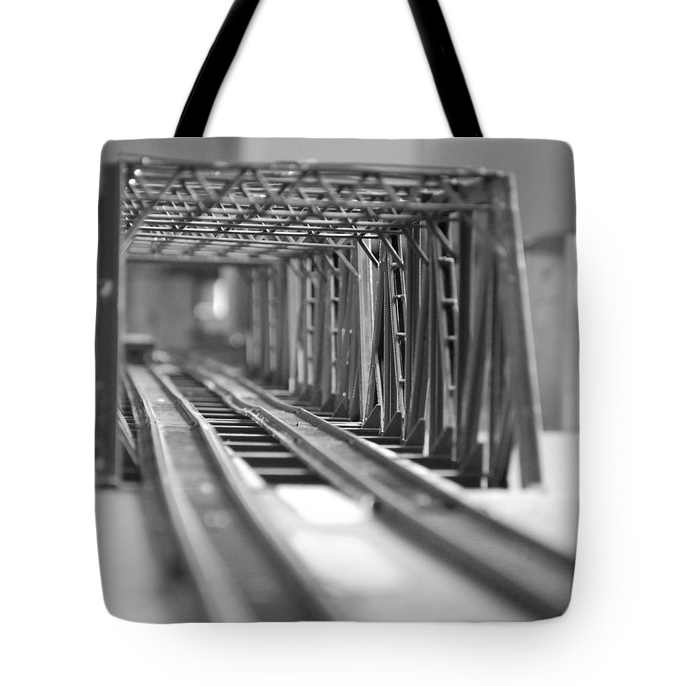 Models Tote Bag featuring the photograph Bridge To Jerry Town by Margaret Fortunato