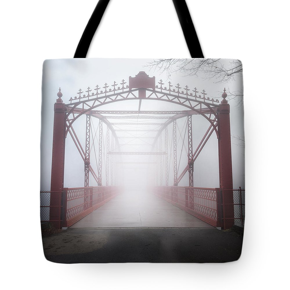 Bridge Tote Bag featuring the photograph Bridge To Nowhere by Bill Wakeley