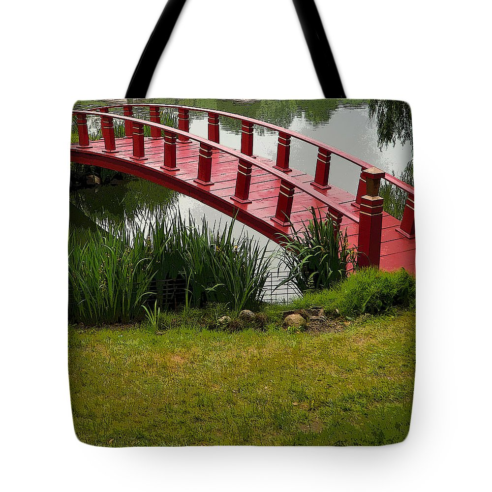 Bridge Tote Bag featuring the photograph Bridge To Nowhere by Mindy Newman