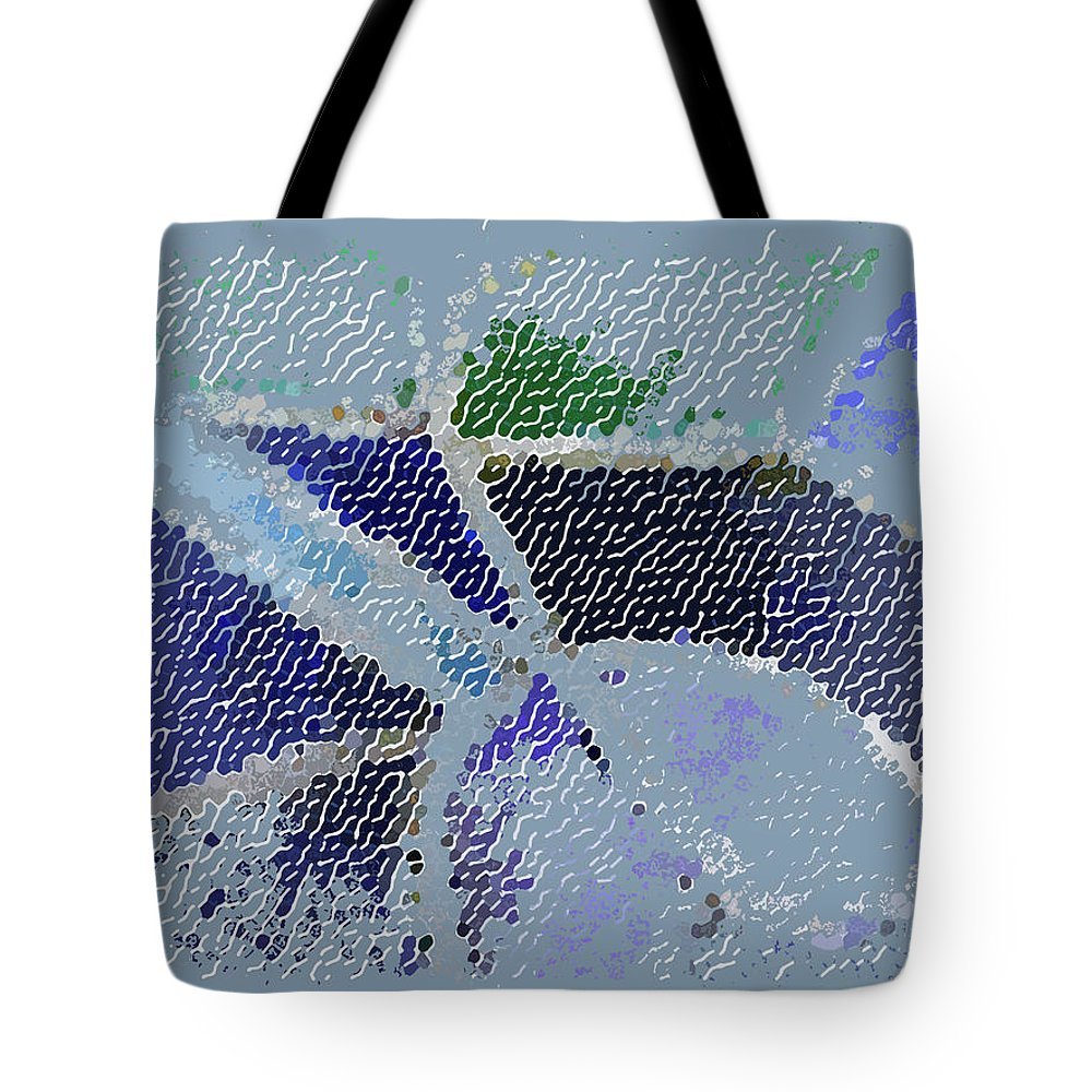 Abstract Tote Bag featuring the digital art Bridge Toward Spring by Lenore Senior