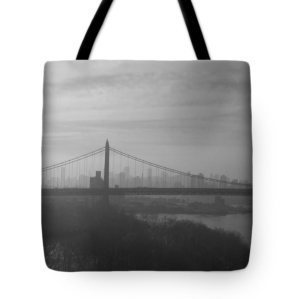 New York City Tote Bag featuring the photograph Bridge View by Paulette B Wright