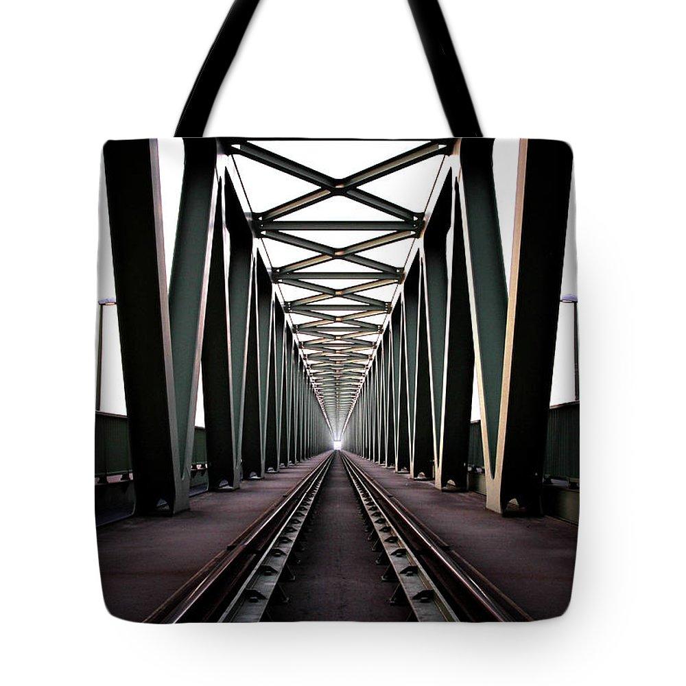 Bridge Tote Bag featuring the photograph Bridge by Zoltan Toth