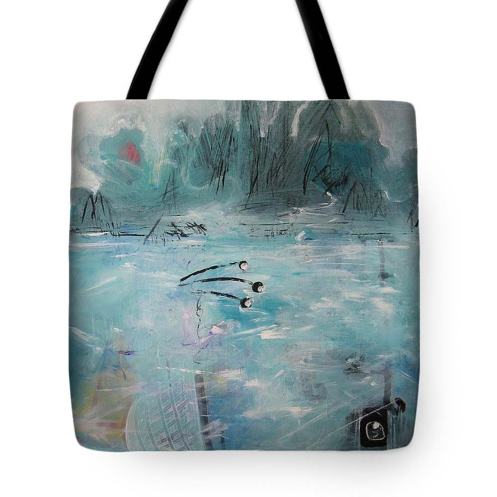 Abstract Paintings Tote Bag featuring the painting Brierly Beach by Seon-Jeong Kim