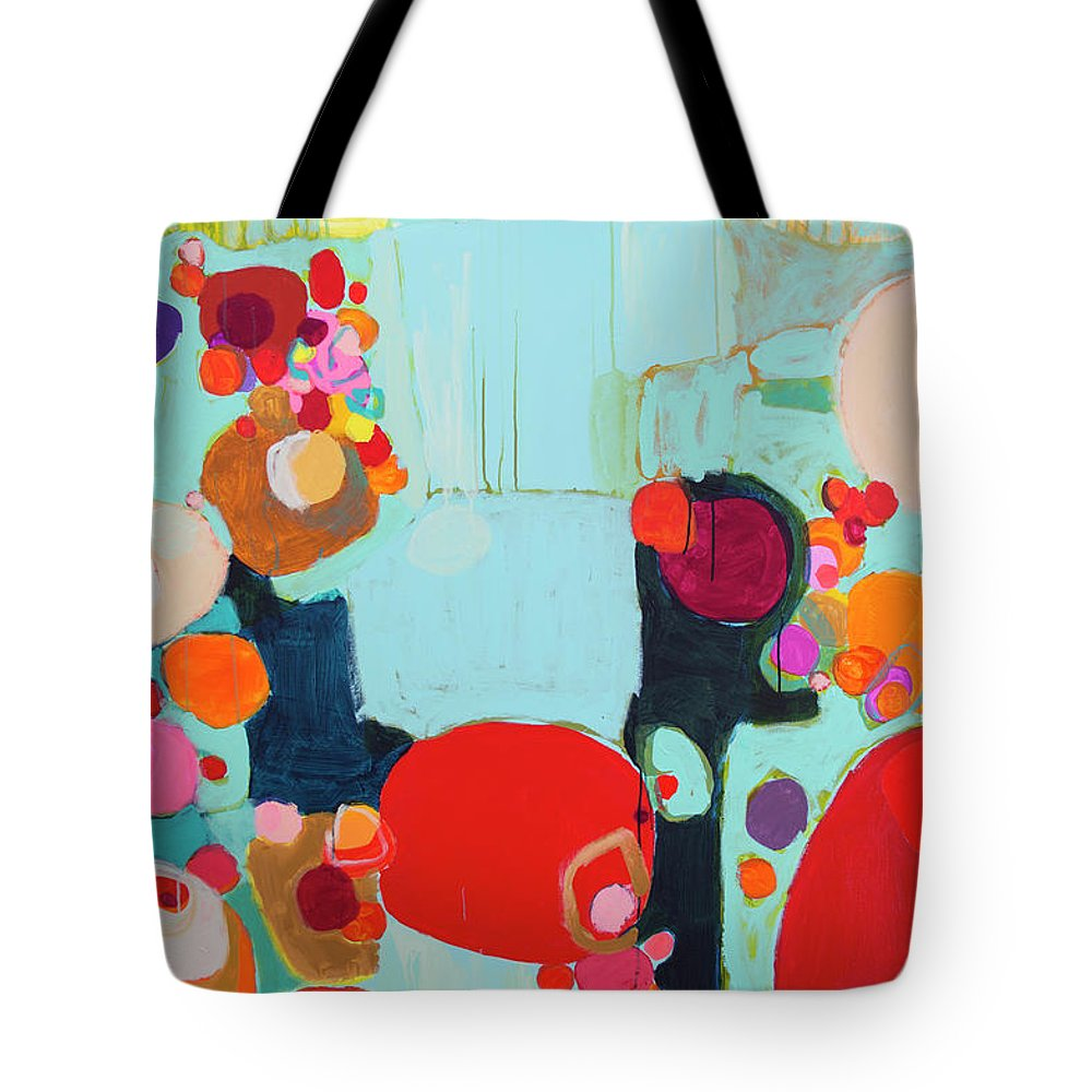Abstract Tote Bag featuring the painting Bright As Quiet by Claire Desjardins