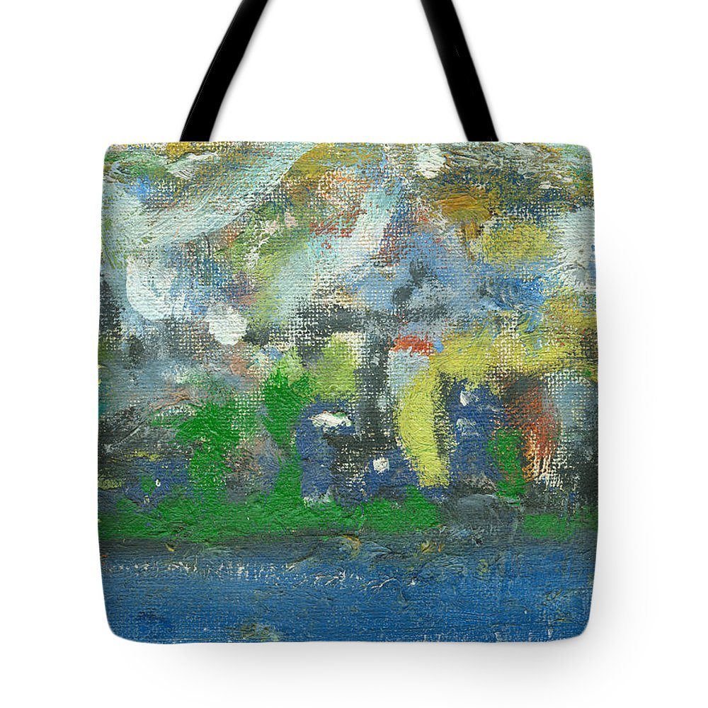 Sunny Day Tote Bag featuring the painting Bright Beach by Jorge Delara
