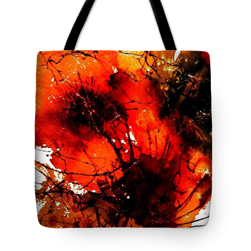 Flowers Tote Bag featuring the painting Bright Bouquet by Anne Duke