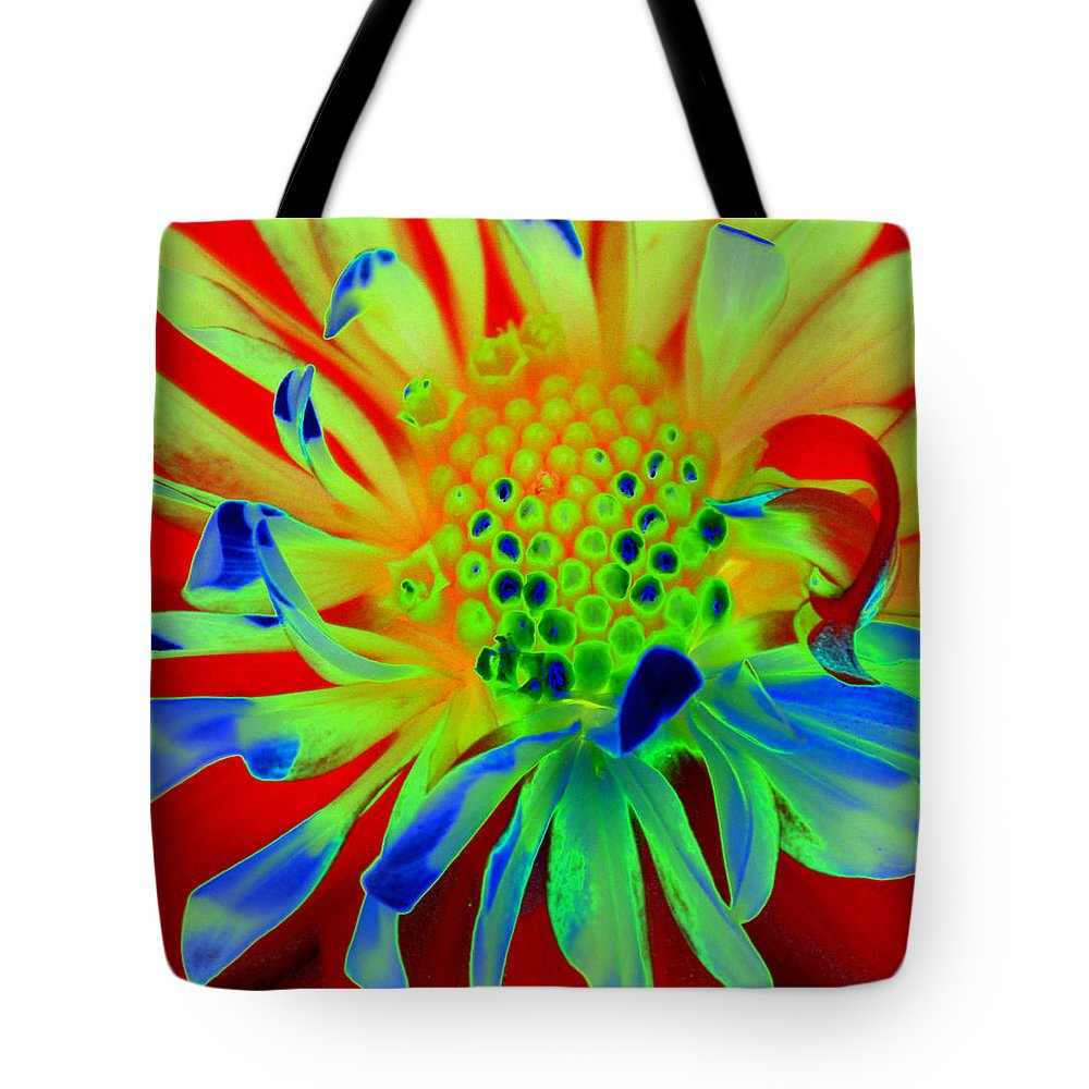 Diane Berry Tote Bag featuring the painting Bright Flower by Diane E Berry