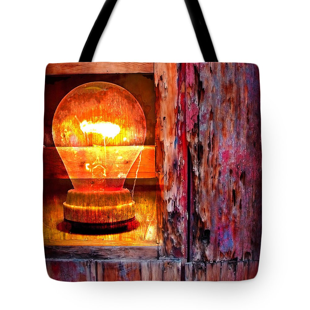 Skip Tote Bag featuring the photograph Bright Idea by Skip Hunt