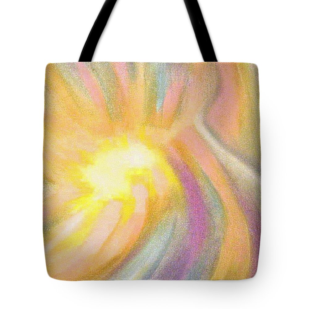 Pastel Drawing Colors Abstract Tote Bag featuring the drawing Bright Light Flight by Jan Gilmore