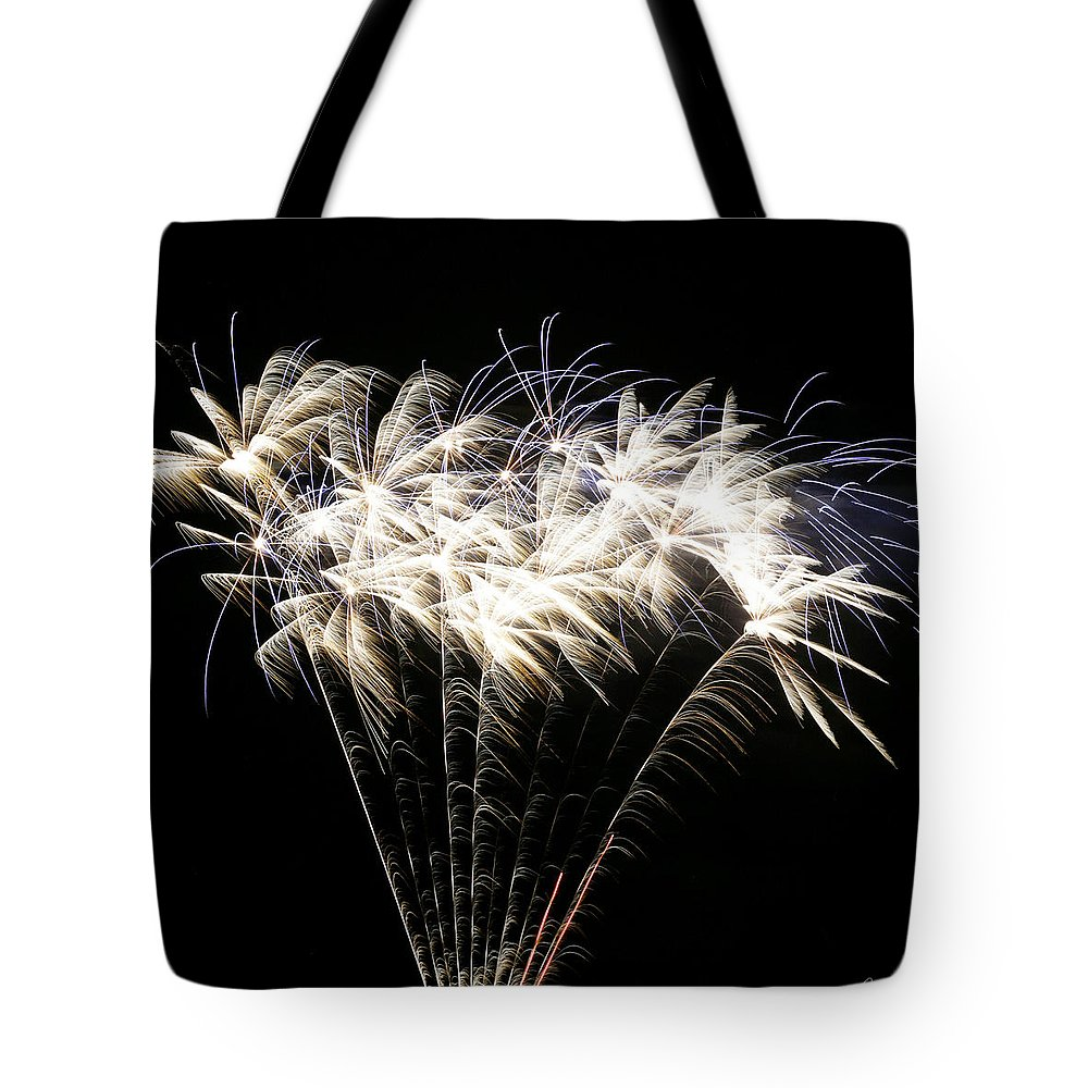 July 4th Tote Bag featuring the photograph Bright Lights by Phill Doherty