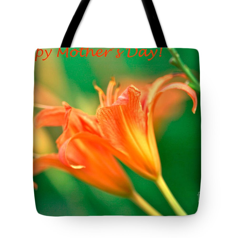 Bright Mother's Day Card Tote Bag featuring the digital art Bright Mother's Day Card by Femina Photo Art By Maggie