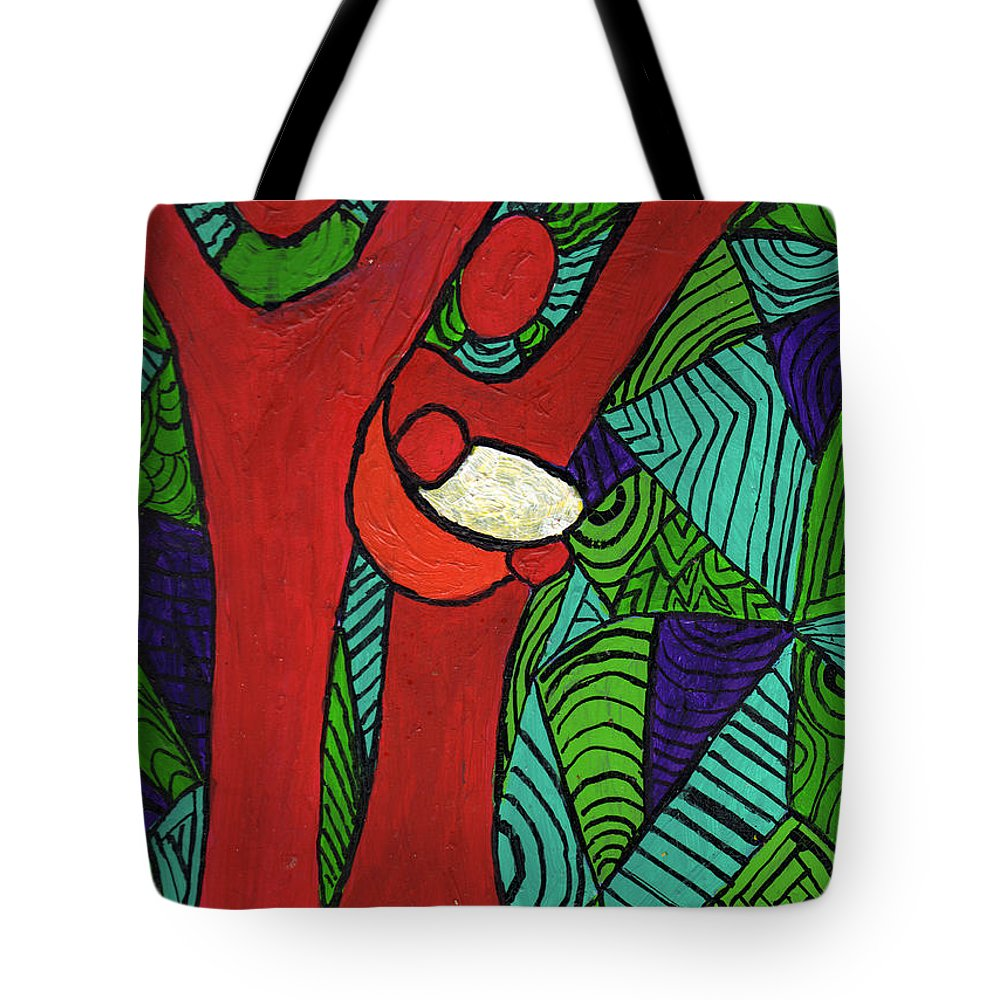 Family Tote Bag featuring the painting Bright New Day by Wayne Potrafka