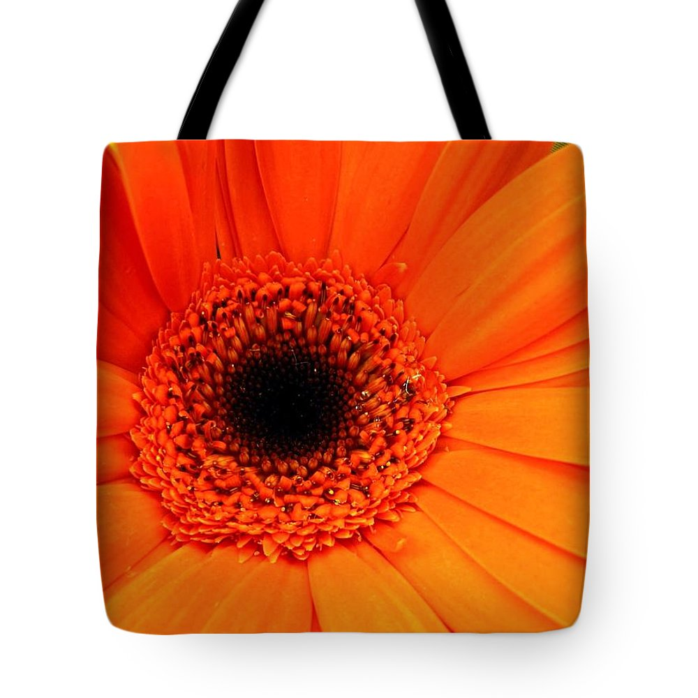 Flower Tote Bag featuring the photograph Bright Red by Rhonda Barrett