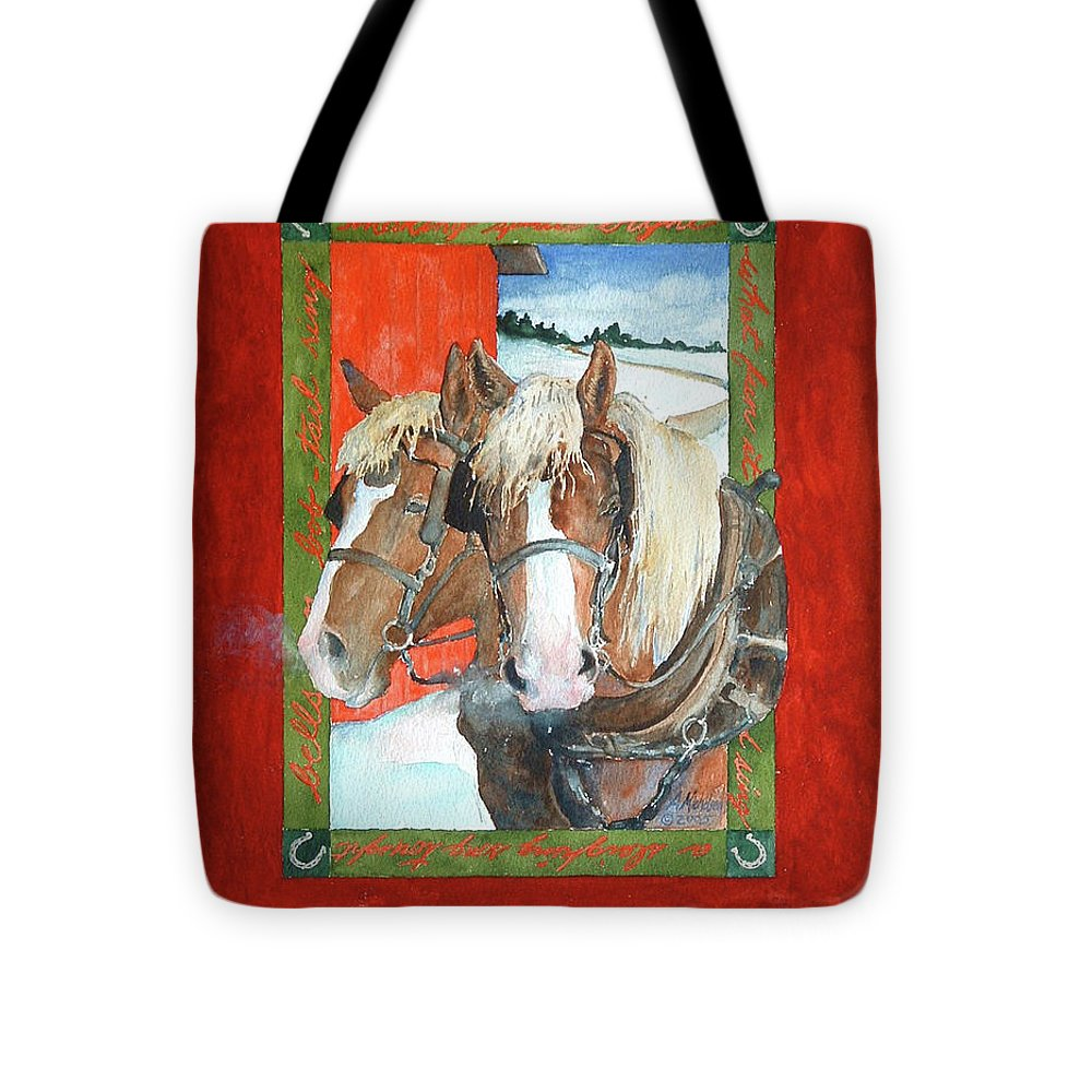 Horses Tote Bag featuring the painting Bright Spirits by Christie Michelsen
