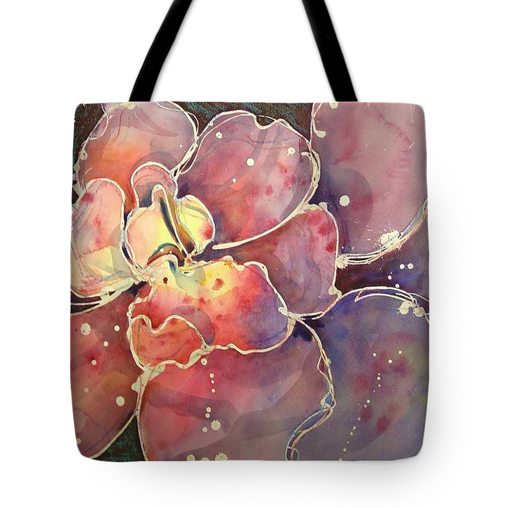 Floral Tote Bag featuring the mixed media Bright Spot by Marlene Gremillion