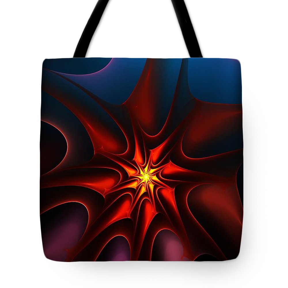 Abstract Tote Bag featuring the digital art Bright Star by David Lane