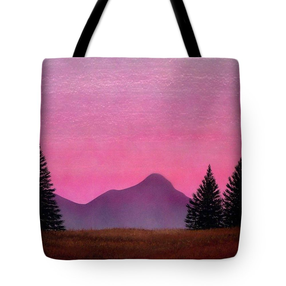 Landscape Tote Bag featuring the painting Brightness by Frank Wilson