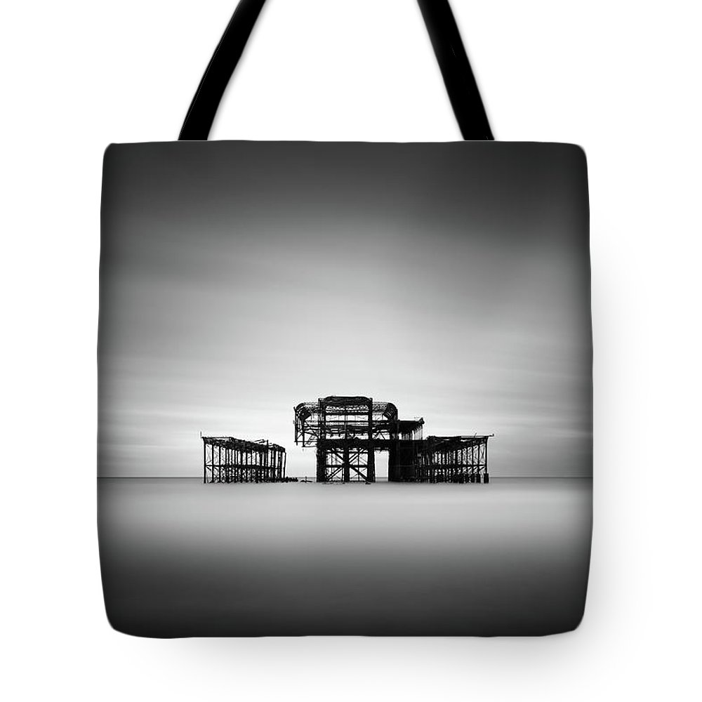 West Pier Tote Bag featuring the photograph Brighton West Pier by Ivo Kerssemakers