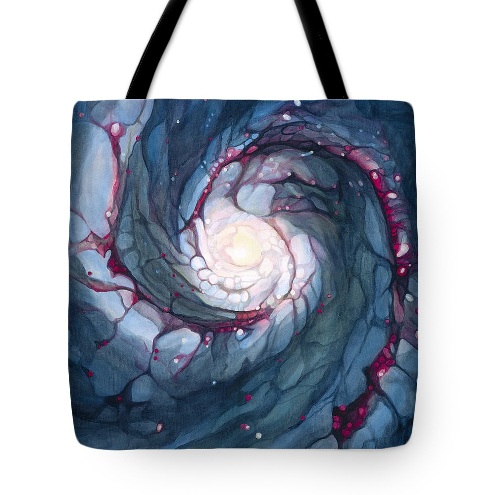 Brigid Tote Bag featuring the painting Brigid The Goddess Of Fire Poetry And Healing by Do'an Prajna - Antony Galbraith