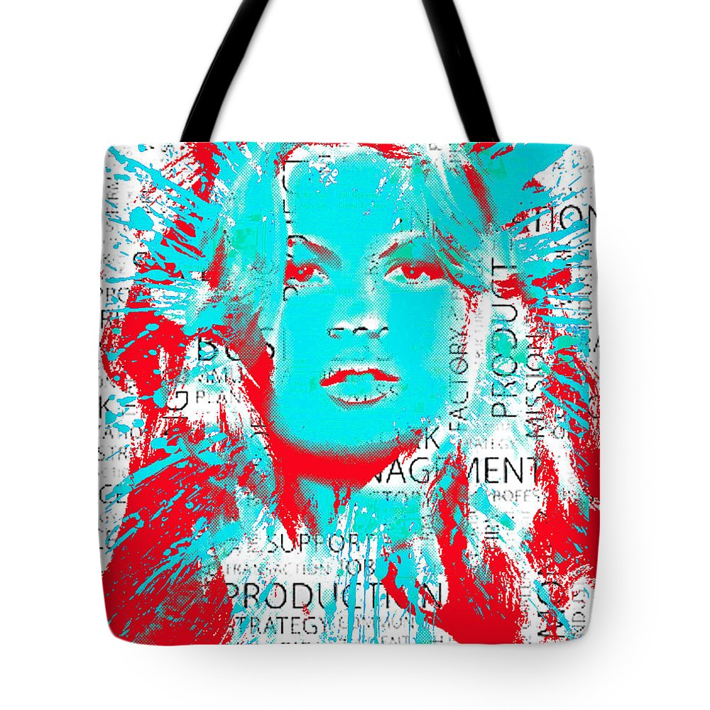 Water Tote Bag featuring the digital art Brigitte Moss by Rob Sneyder