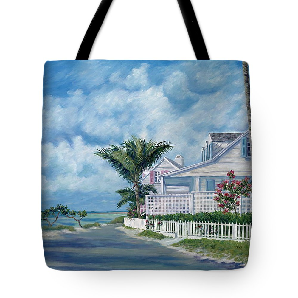 Harbor Island Tote Bag featuring the painting Briland Breeze by Danielle Perry