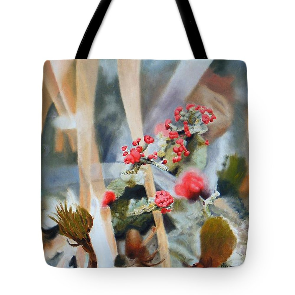 Nature Tote Bag featuring the painting British Soldiers by Dave Martsolf