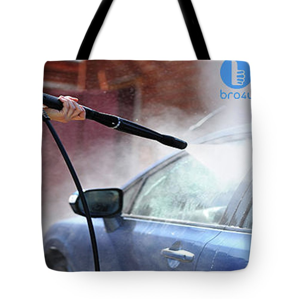 Car Wash In Hyderabad Tote Bag featuring the photograph Bro4u Car Wash In Hyderabad by Karthik Raju