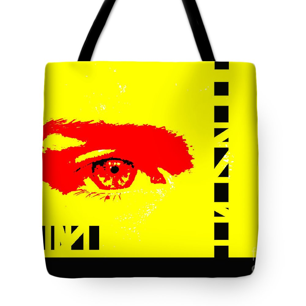 Eyes Tote Bag featuring the photograph Broken by Amanda Barcon